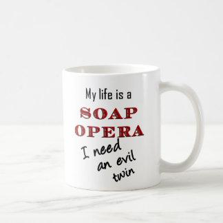 My Life is a Soap Opera Evil Twin Mug