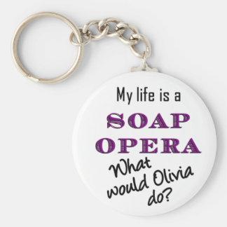 My Life Is A Soap Opera Olivia Keychain