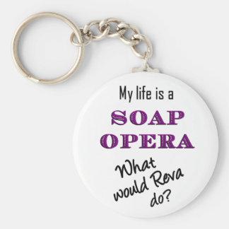 My Life is a Soap Opera Reva Keychain