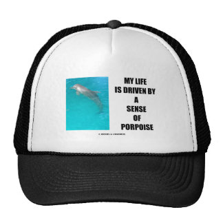My Life Is Driven By A Sense Of Porpoise (Purpose) Trucker Hat