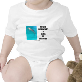 My Life Is Driven By A Sense Of Porpoise (Purpose) Rompers