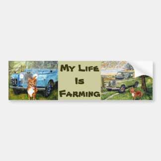 My Life Is Farming..Sticker Bumper Sticker