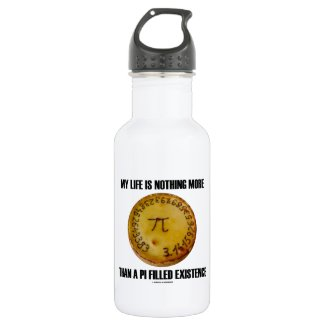 My Life Is Nothing More Than A Pi Filled Existence 18oz Water Bottle