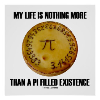 My Life Is Nothing More Than A Pi Filled Existence Poster