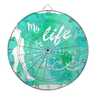 My Life is on the ice Figure Skating Design Dartboard With Darts