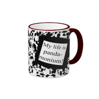 My life is panda-monium coffee mugs