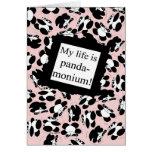My life is panda-monium - Pink Card
