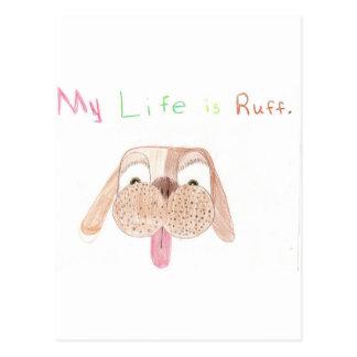 My Life is Ruff. Postcard