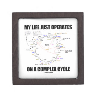 My Life Just Operates On A Complex Cycle (Krebs) Keepsake Box