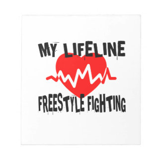 MY LIFE LINA FREESTYLE FIGHTING MARTIAL ARTS DESIG NOTEPAD