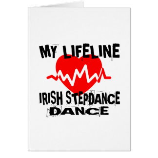 MY LIFE LINA IRISH STEP DANCE DESIGNS CARD