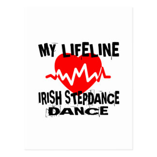 MY LIFE LINA IRISH STEP DANCE DESIGNS POSTCARD