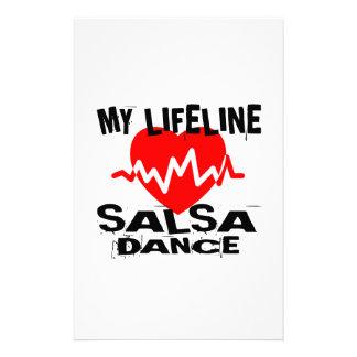 MY LIFE LINA SALSA DANCE DESIGNS STATIONERY