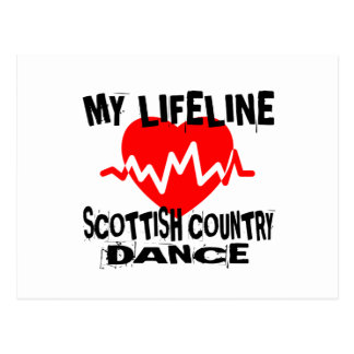 MY LIFE LINA SCOTTISH COUNTRY DANCING DANCE DESIGN POSTCARD