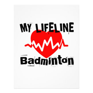 My Life Line Badminton Sports Designs Letterhead
