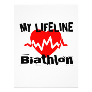 My Life Line Biathlon Sports Designs Letterhead