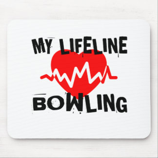 My Life Line BOWLING Sports Designs Mouse Pad