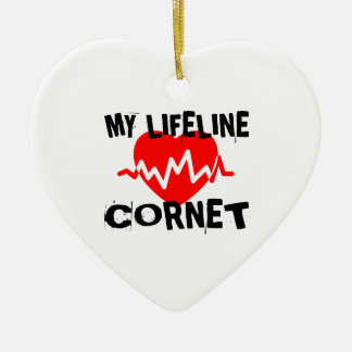 MY LIFE LINE CORNET MUSIC DESIGNS CERAMIC ORNAMENT