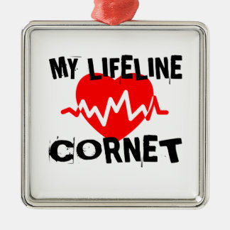 MY LIFE LINE CORNET MUSIC DESIGNS METAL ORNAMENT