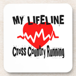 My Life Line Cross Country Running Sports Designs Coaster