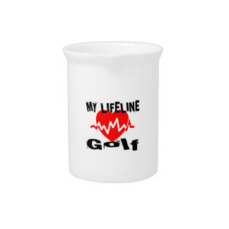My Life Line Golf Sports Designs Drink Pitcher