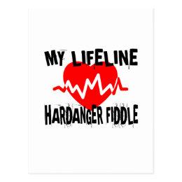 MY LIFE LINE HARDANGER FIDDLE MUSIC DESIGNS POSTCARD
