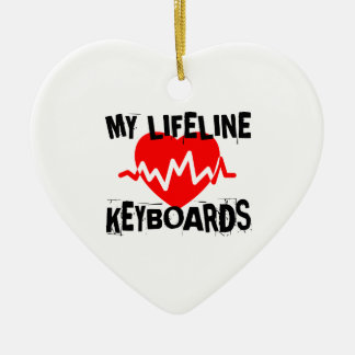 MY LIFE LINE KEYBOARDS MUSIC DESIGNS CERAMIC ORNAMENT