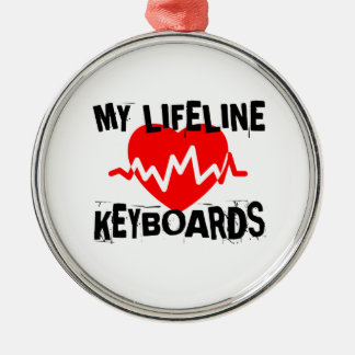 MY LIFE LINE KEYBOARDS MUSIC DESIGNS METAL ORNAMENT