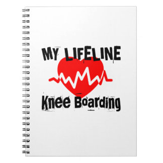 My Life Line Knee Boarding Sports Designs Notebook