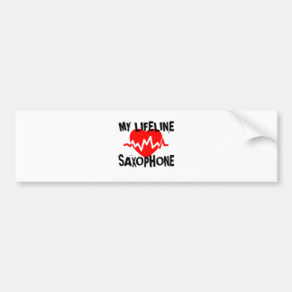 MY LIFE LINE SAXOPHONE MUSIC DESIGNS BUMPER STICKER