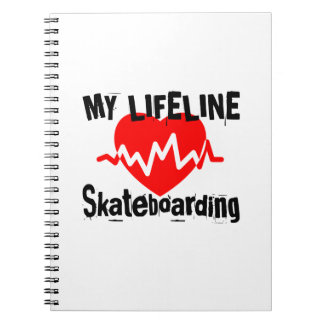 My Life Line Skateboarding Sports Designs Notebook
