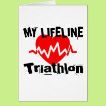 My Life Line Triathlon Sports Designs Card