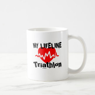 My Life Line Triathlon Sports Designs Coffee Mug