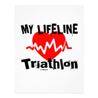 My Life Line Triathlon Sports Designs Letterhead