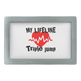 My Life Line Triple jump Sports Designs Rectangular Belt Buckle