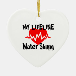 My Life Line Water Skiing Sports Designs Ceramic Ornament