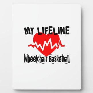 My Life Line Wheelchair Basketball Sports Designs Plaque