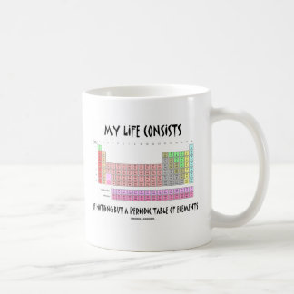 My Life Nothing But Periodic Table Of Elements Coffee Mug