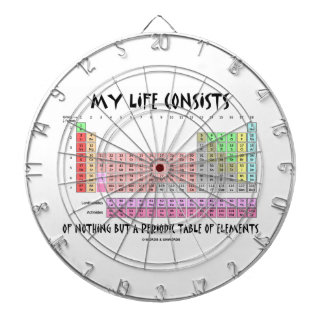 My Life Nothing But Periodic Table Of Elements Dart Boards