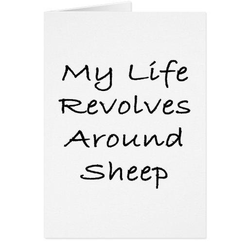 My Life Revolves Around Sheep Greeting Card