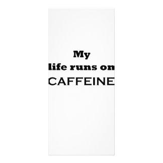 My life runs on caffeine rack cards