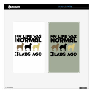 My Life Was Normal 3 Labradors Ago Decals For Kindle Fire