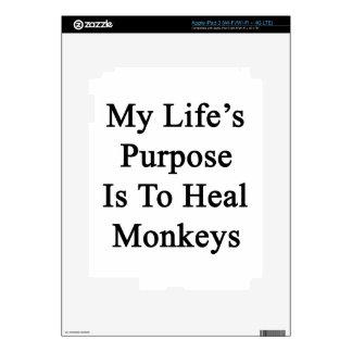 My Life's Purpose Is To Heal Monkeys iPad 3 Decals