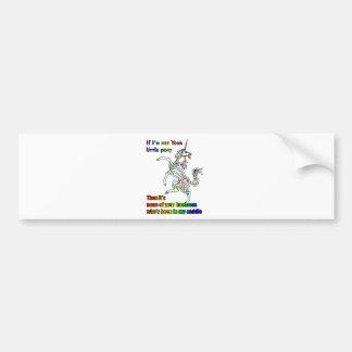 My Li'l Unicorn Bumper Sticker