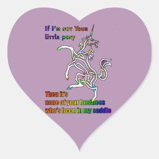 My Li'l Unicorn Heart Sticker