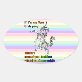 My Li'l Unicorn Oval Sticker