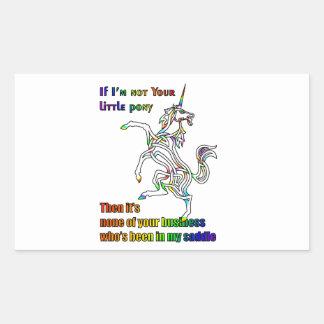 My Li'l Unicorn Rectangular Sticker