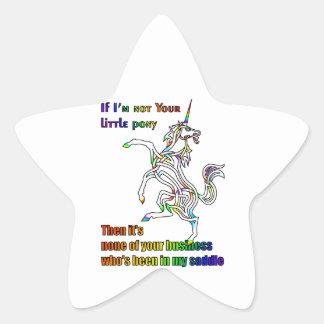 My Li'l Unicorn Star Sticker
