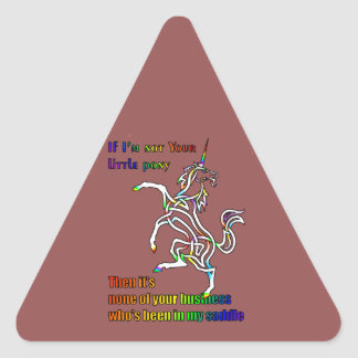 My Li'l Unicorn Triangle Sticker