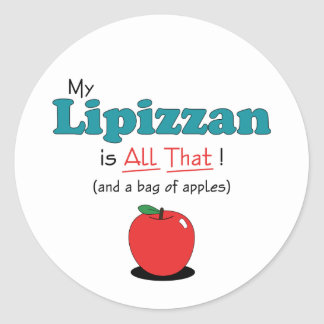 My Lipizzan is All That! Funny Horse Classic Round Sticker